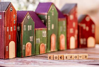 An image showing tiny block houses